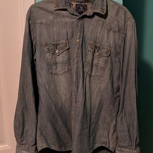 Men's lucky brand denim shirt